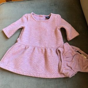 Baby Gap cozy quilted purple dress bloomers 12-18m